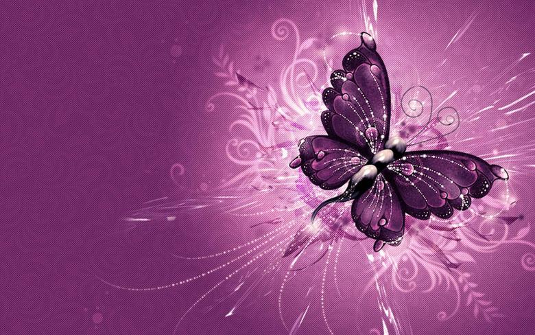 Purple Butterfly Wallpapers