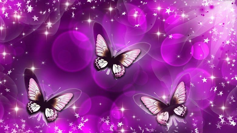 Butterfly Purple Art Wallpapers Wallpapers