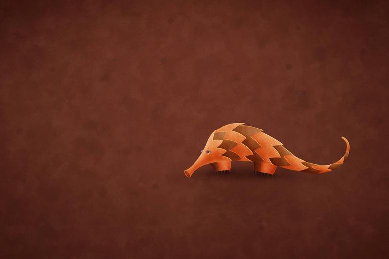 Orange armadillo illustration Ubuntu HD wallpapers