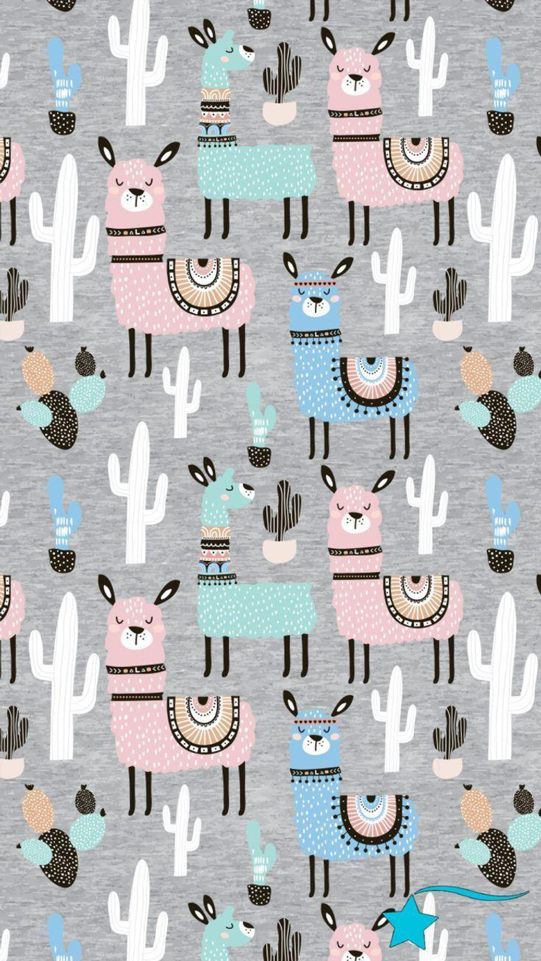 Destira Phone Wallpapers to match our Llama Love Leotard iPhone X