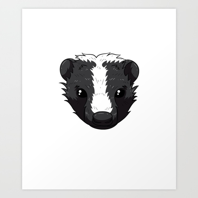 Save the Fart Squirrel Skunk Skunks Funny Stinky Badger Art Print