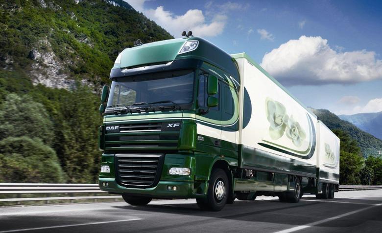 daf xf105 truck wallpapers iksef trailer road train wallpapers HD