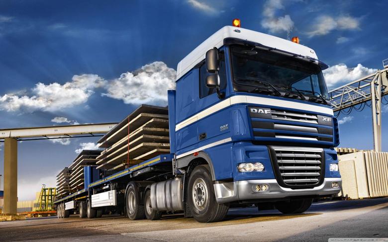 Blue DAF XF105 Truck 4K HD Desktop Wallpapers for 4K Ultra HD TV
