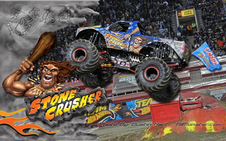 Stone Crusher Monster Truck Wallpapers