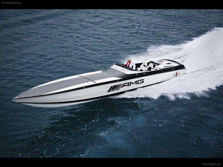 Mercedes Black Series 50 Marauder Cigarette Boat Exotic Car