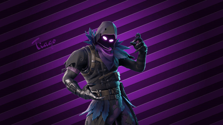 First raven pic made with paint FortNiteBR