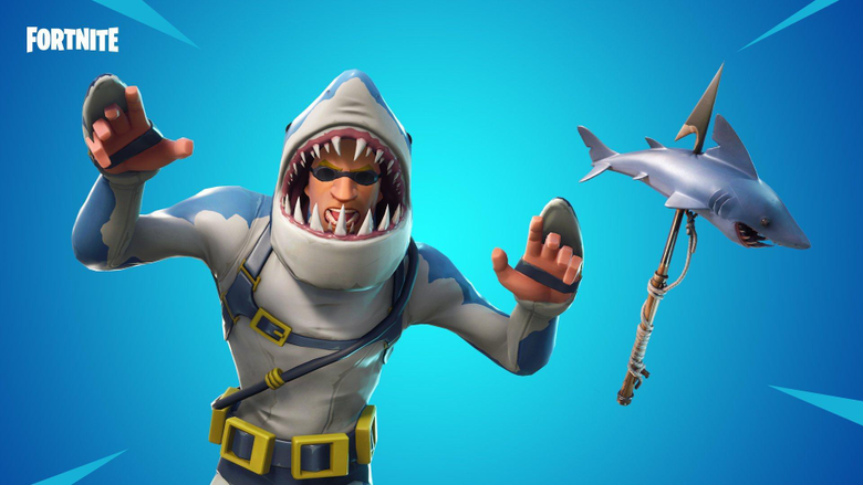 Check Out Fortnite s New Legendary Shark Skin Chomp Sr