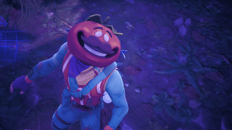 CREEPY If you go into the replay mode the time tomato head dies his
