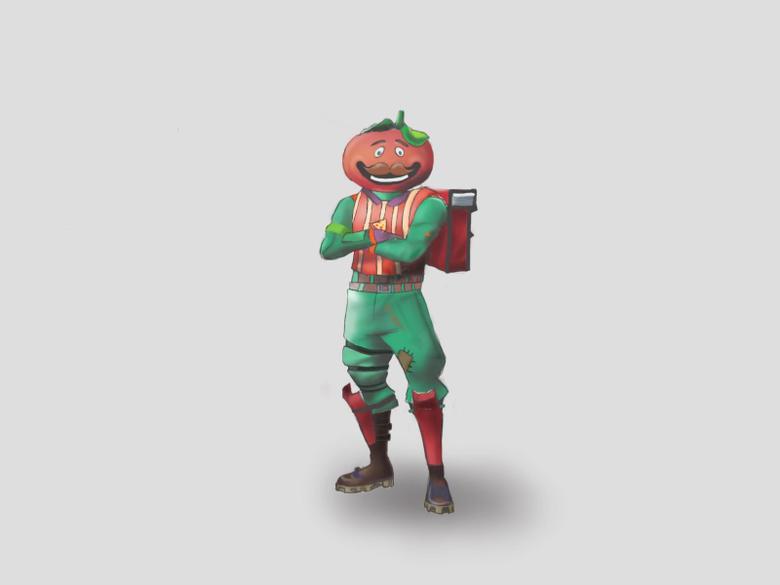 My tomato head drawing FortNiteBR