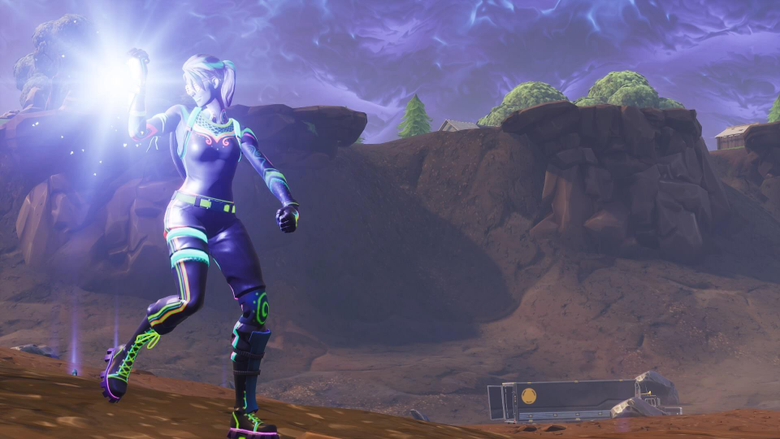 Took this screenshot with the new Nitelite skin FortNiteBR