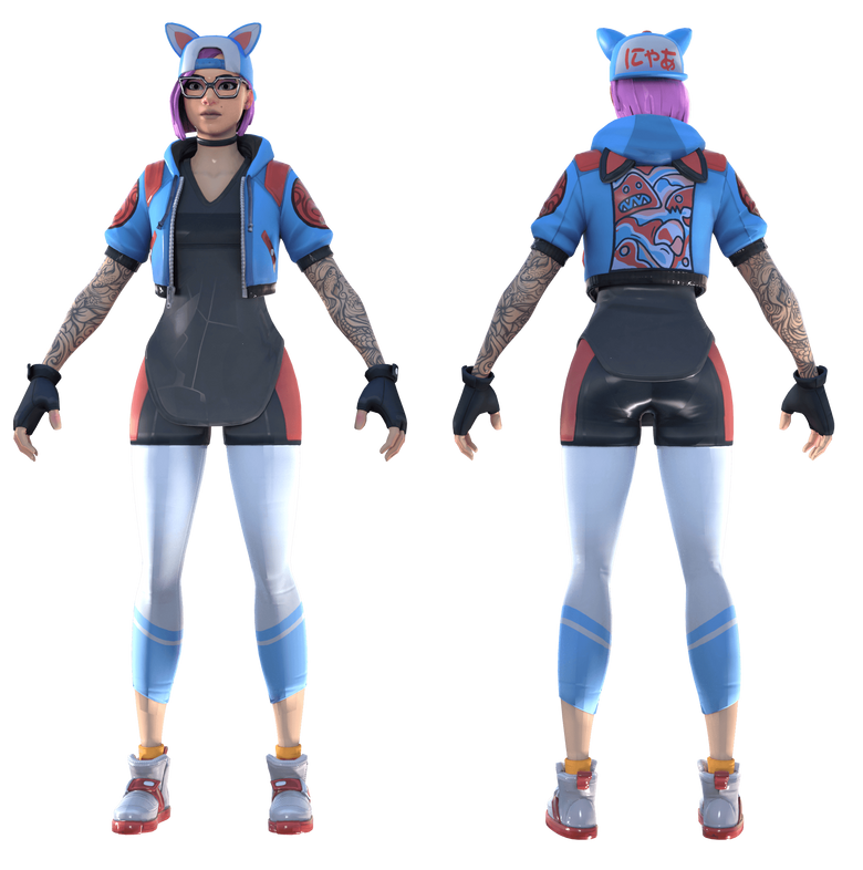 Fortnite Lynx Catgirl Model by paladinsmut