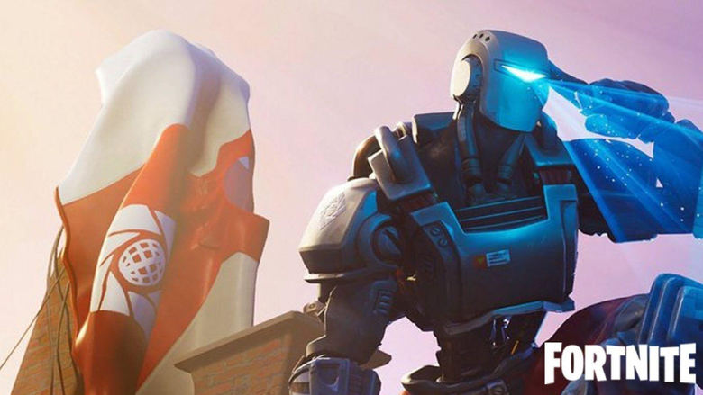 Fortnite Leaked Week 8 Hunting Party screen features the A I M skin