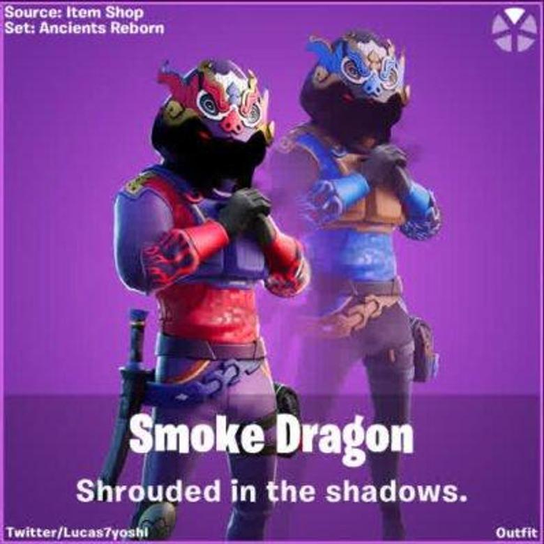 Smoke Dragon Fortnite wallpapers