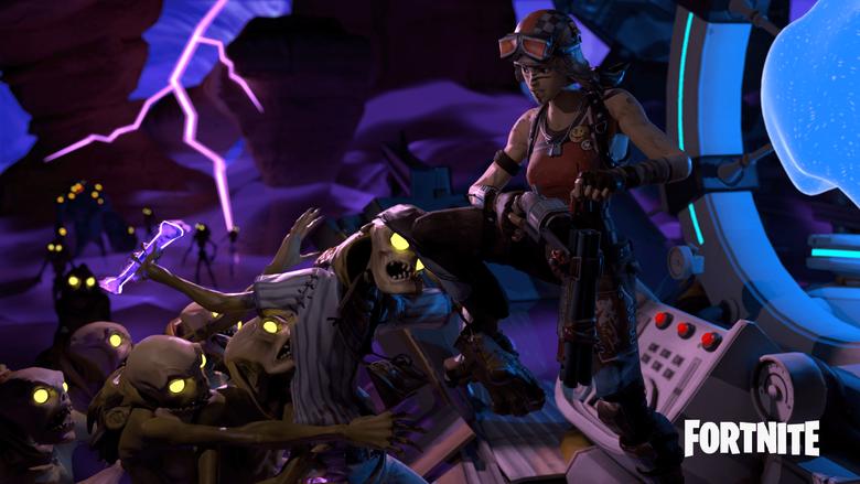 Raider Headhunter poster rendered completely in Blender FORTnITE