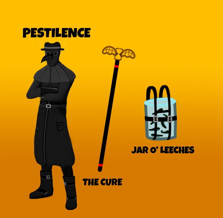 I decided to redesign my Plague Doctor Skin and create a pickaxe and