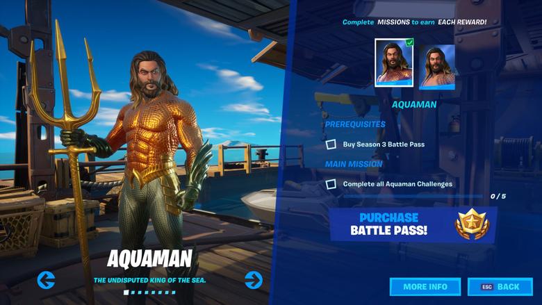 Aquaman Fortnite wallpapers