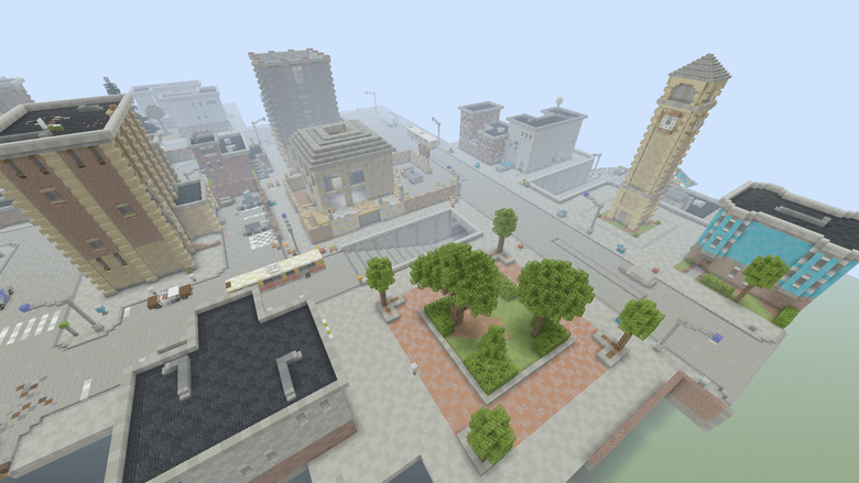 Tilted Towers in Minecraft