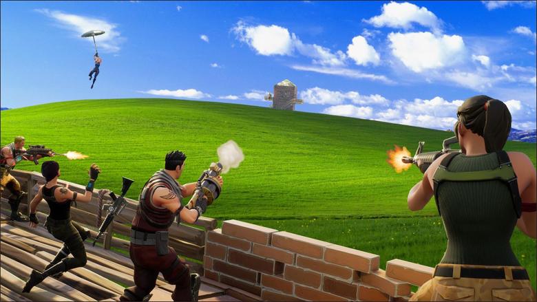 Fortnite Meets Windows XP FortNiteBR