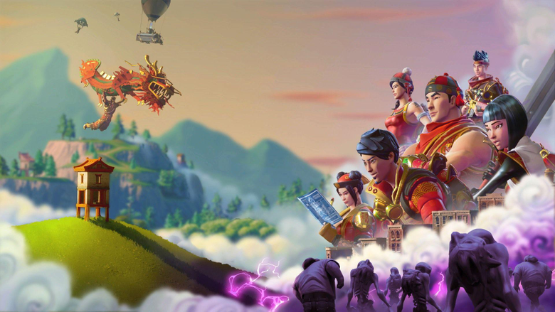 Chinese New Year poster Wallpapers from Fortnite Battle Royale