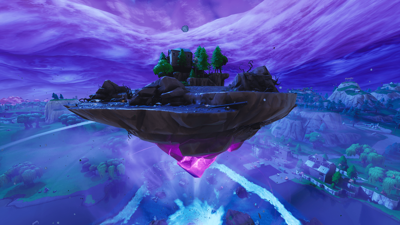 Fortnite s Floating Island Is Moving And Leaving Weird Craters On