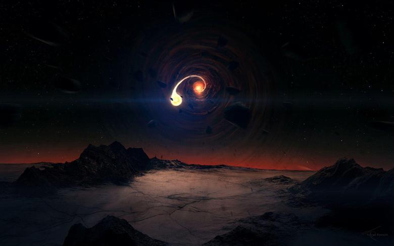 Black Hole Scene Wallpapers