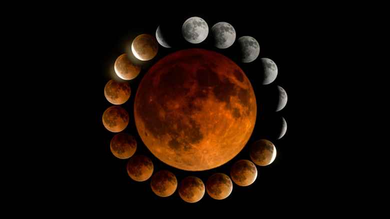 Someone made a pic of the blood moon a few weeks ago I made a