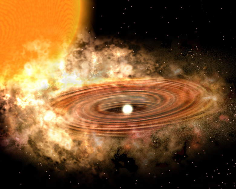 Accretion Disk Around Binary Star System WZ Sge