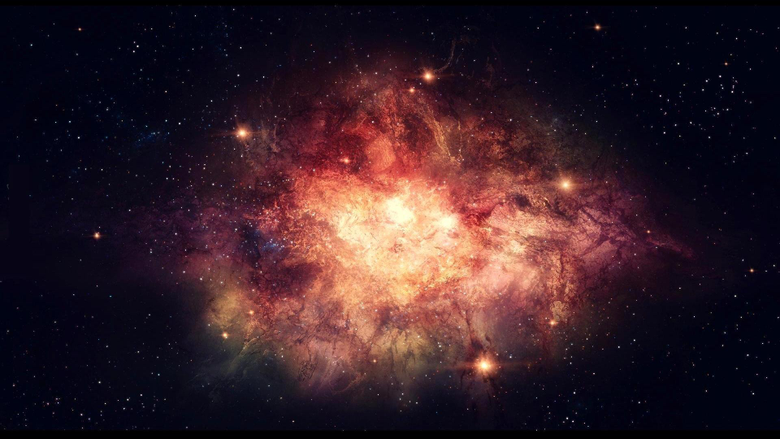 abstract outer space dark stars explosions nebulae Big Bang