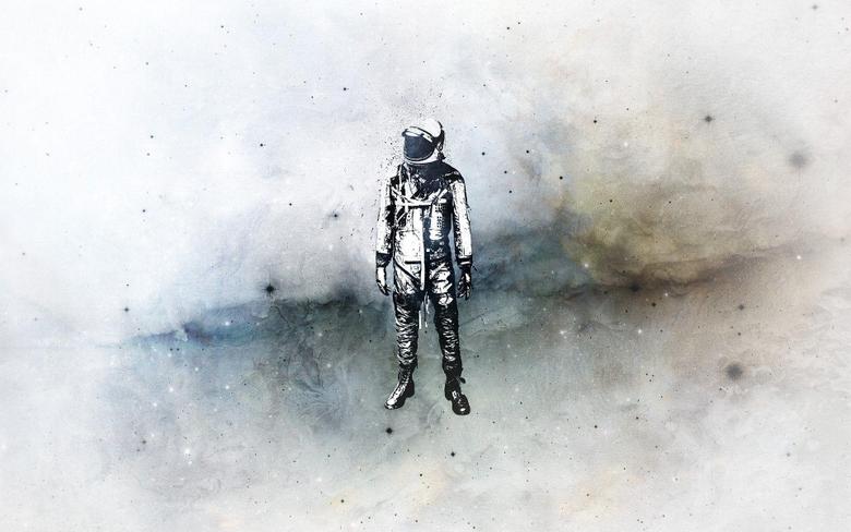 suit cosmonaut minimalism HD wallpapers