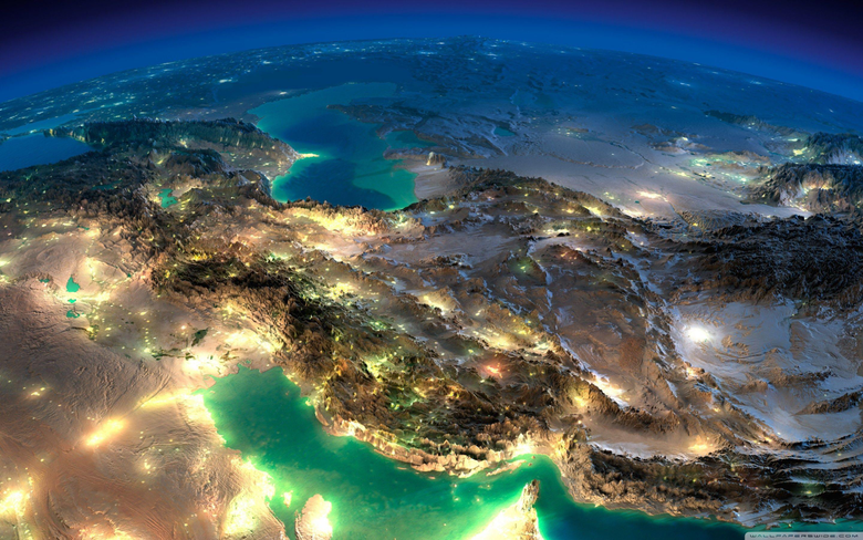 Very Nice Satellite Image Of Iran HD desktop wallpapers High