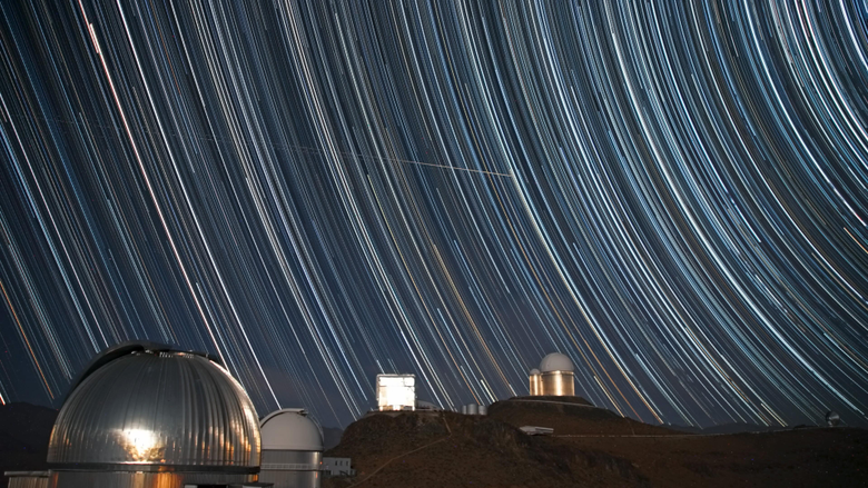 Wallpapers sky exposure observatory astronomy photo stars night
