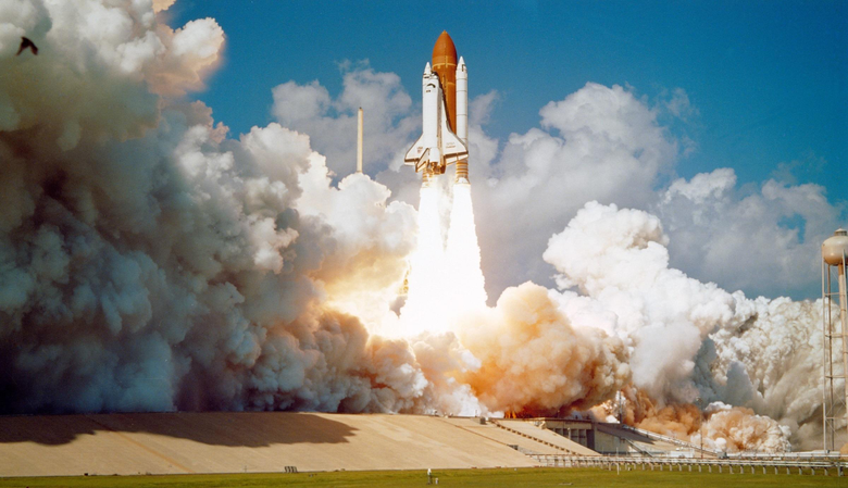 Challenger Space Shuttle Launch rocket space travel vehicle