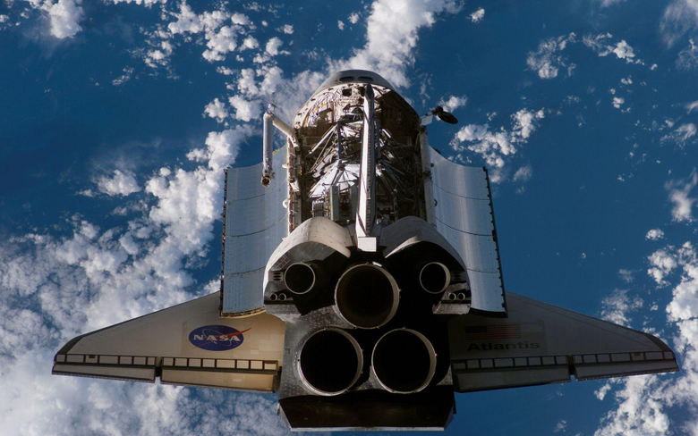 ships rockets Space Shuttle Atlantis NASA vehicles skyscapes
