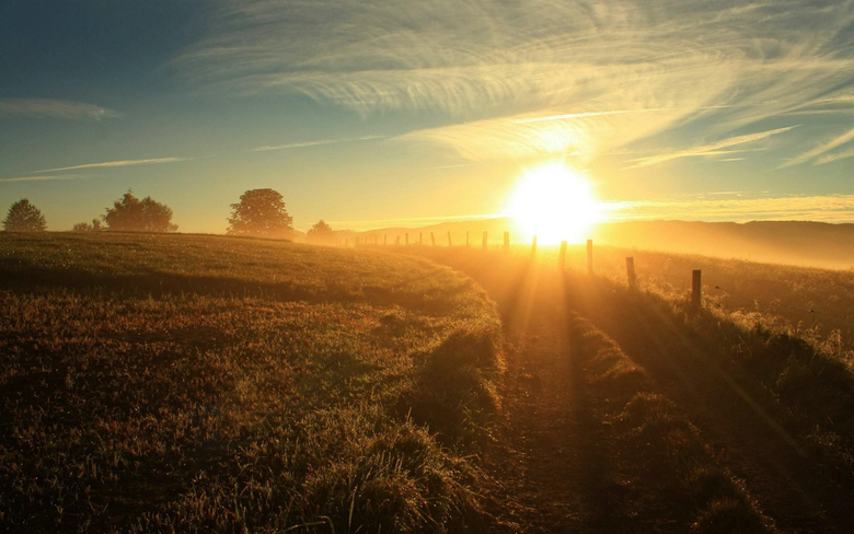 morning nature sun rays landscape sunlight field wallpapers and