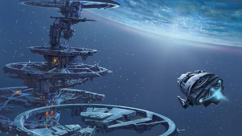 Space planet ship art station wallpapers