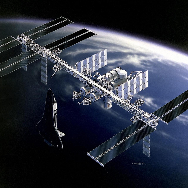 wallpapers 1280x1280 space station iss earth shuttle ipad