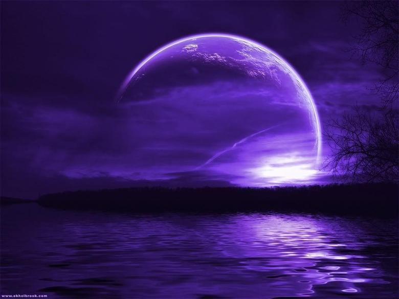 Purple Moon Wallpapers 2312 Hd Wallpapers in Space