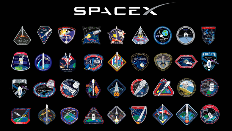 SpaceX Mission Patch 16 9 Wallpapers spacex