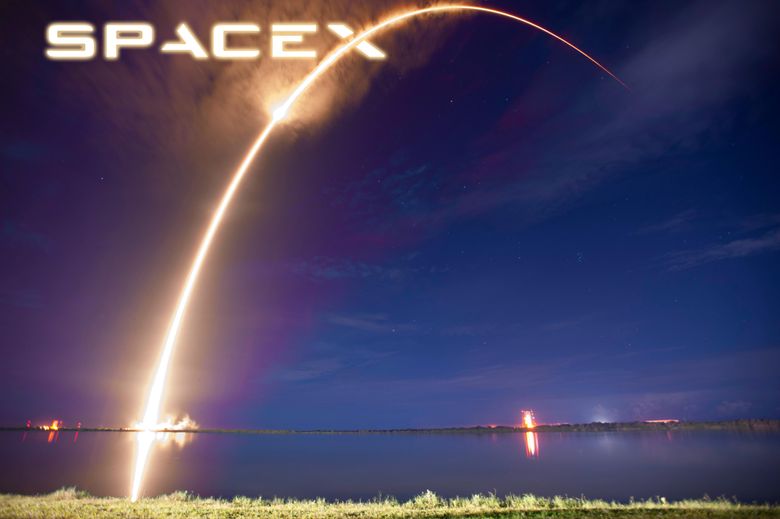 I noticed the Space X logo matches exactly with the Falcon 9