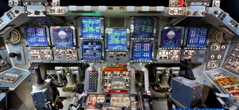 Image of Interior Space Shuttle Backgrounds