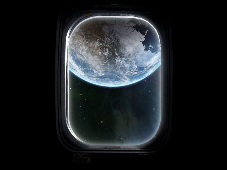 Digital Universe Space Window wallpapers