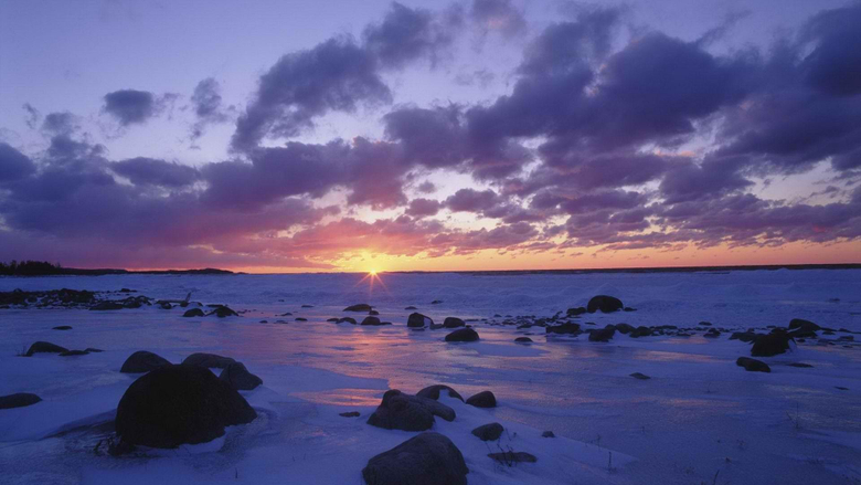 The Image of Sunset Winter