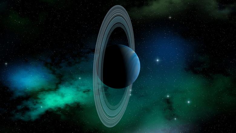 2560x1440 Uranus planet Solar System planetary rings