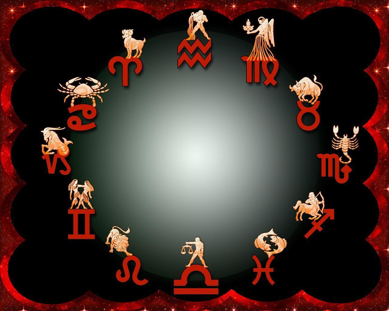 Zodiac Symbols Clockwise On Wallpapers