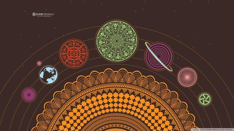 Zune Solar System HD desktop wallpapers Widescreen High
