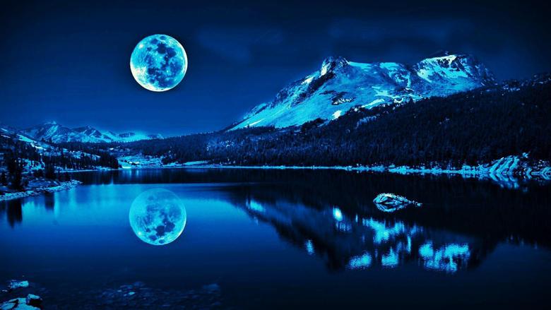 Super Moon Blue Wallpapers