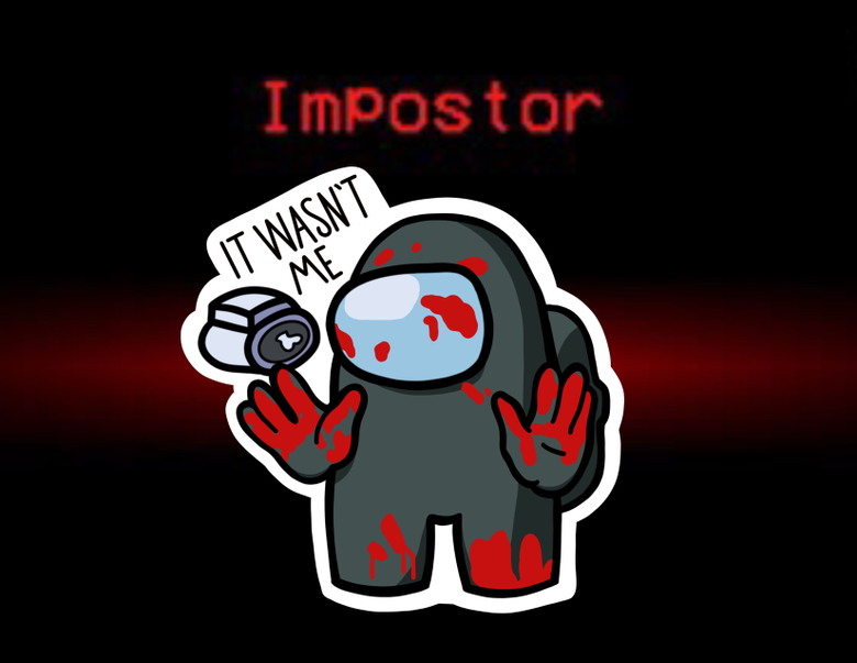 Among Us IMPOSTOR Sticker in 2020