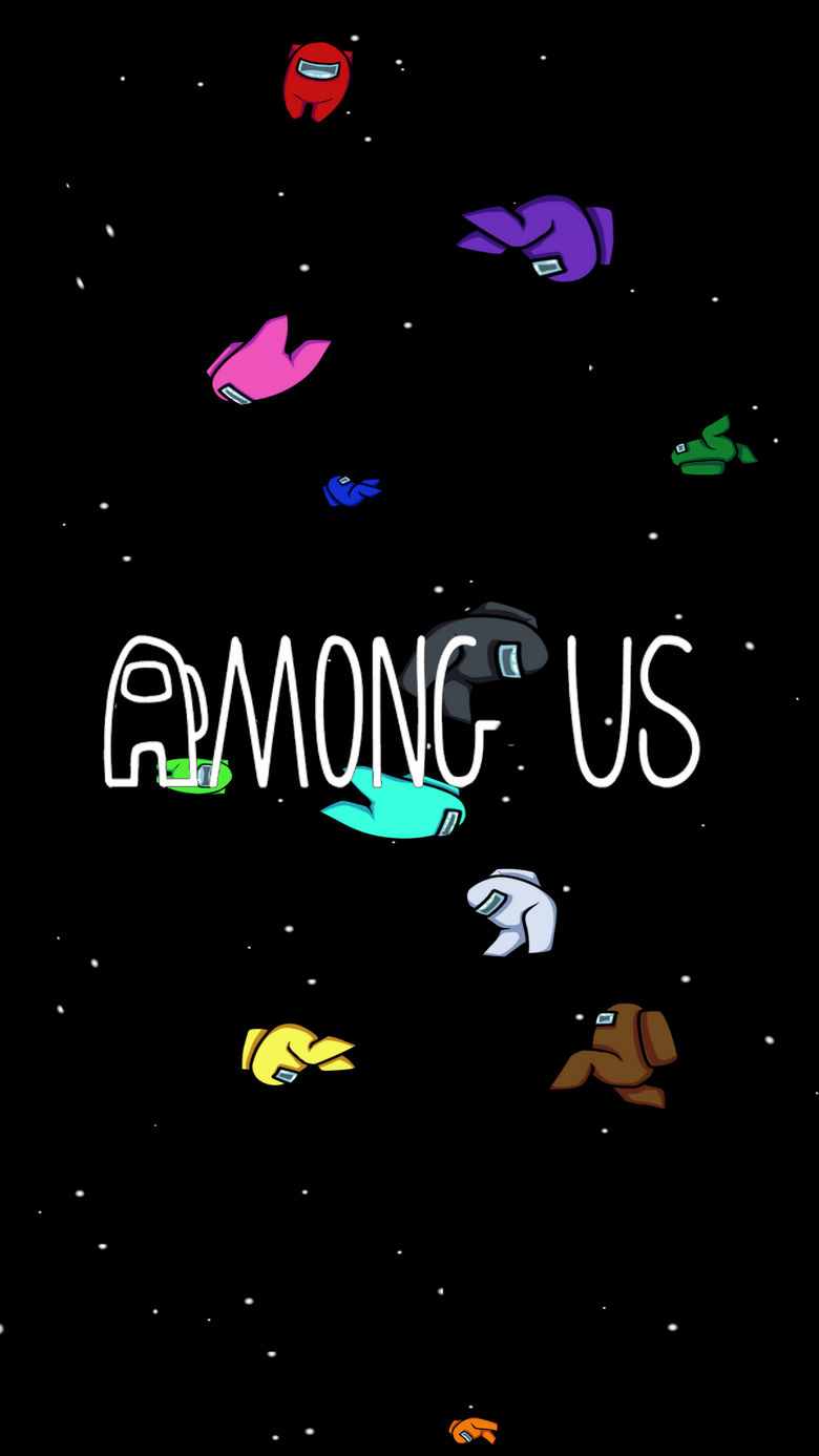 Made a phone wallpapers for Among Us First time doing anything like this AmongUs