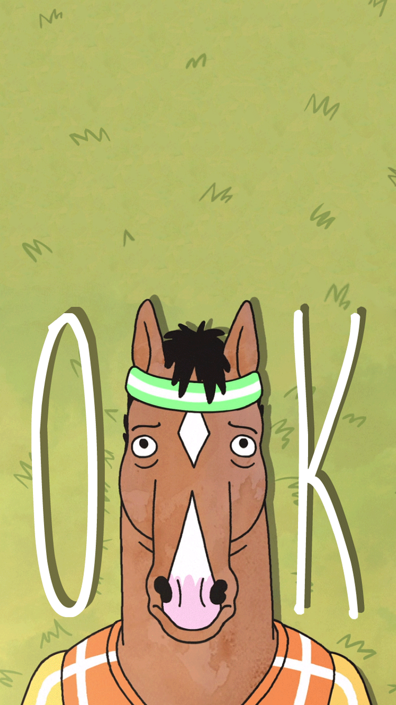 I found a post with some Bojack phone wallpapers and I forgot to