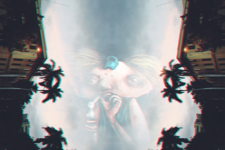 Hey Arnold Sky Palm trees Anaglyph 3D Drugs Wallpapers HD